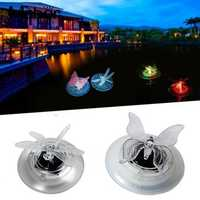 Solar Power Swimming Pool Pond Color Changing Water Floating Lamp Butteryfly Dragonfly LED Light