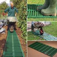10FT Garden Plastic Path Track Outdoor Courtyard Vegetable Farm Portable Footpath