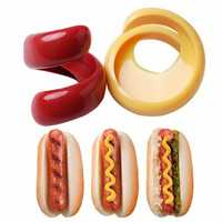 2pcs Fancy Sausage Cutter Spiral Plastic Barbecue Hot Dogs Slicer Tableware Cutting Tools