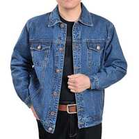Casual Fashion Autumn Cotton Classic Denim Jacket for Men