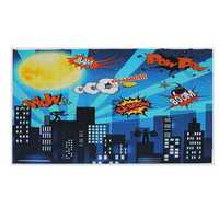 5x7FT 9x6FT Vinyl Superhero Cartoon City Boom Photography Backdrop Background Studio Prop