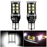 2Pcs Audew T15 906 W16W Car LED Backup Reverse Lights Bulbs Error Free 7.2W 1200LM 6000K