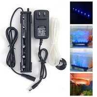 12V 1.2W 6 LED Blue Air Bubble Light Under Water Submersible Aquarium Fish Tank Lamp Decor