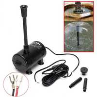 12V-24V DC Solar Powered Submersible Fountain Pond Brushless Water Pump 1600L/H