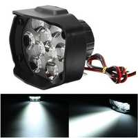 9-85V 1500lm 10W Motorcycle Spotlight Motor Bike Headlamp Bicycle Scooter ATV Headlight Black IP65