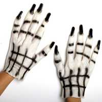 Halloween White Ghost Gloves Masquerade Costume Party Cosplay Props Clothing Accessories