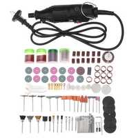 180W Electric Rotary Grinder Polish Sanding Tool Kit 161pcs Grinding Variable Speed Eletric Grinder