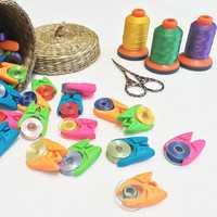 Honana 12PCS Sewing Accessories Needlework Tools DIY Handmake Tools Silica Gel Bobbin Holder Clamp
