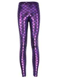 Sexy Mermaid Bling Fish Scale Printed Stretch Women Leggings Pants
