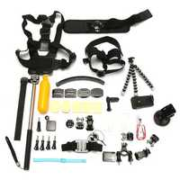 37 in 1 Wrist ChesT-strap Monopod Mount Accessories Set Kit For Gopro 2 3 3 Plus 4 Xiaomi Yi SJcam