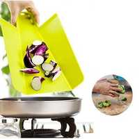 Foldable Plastic Cutting Board Green Non-slip Frosted Cutting Block Chopping Board Cutting Board