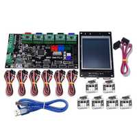 MKS-GEN V1.4 Controller Mainboard+MKS TFT32 LCD Display+6Pcs Limit Switch+5Pcs 4988 Driver Kit For 3D Printer