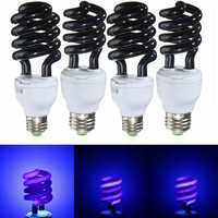 E27 15W 20W 30W 40W Purple Fluorescent Blacklight CFL Light Bulb Lamp AC220V