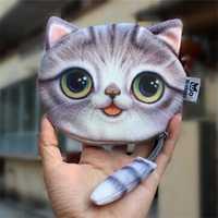 Women Cute Cat Wallet Coin Bag