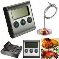 LCD Timer BBQ Termometro Digital Thermometer Sonda Cocina Comida Temperatura 482°F Horno
