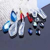 1pcs Crystal Epoxy Gems Pendant Pendant Silicone Mold
