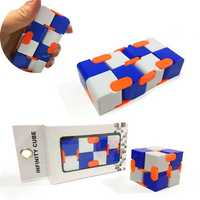 Metal Infinite Cube Anxiety Stress Relief Fidget Focus Adults Kids Attention Therapy Toys