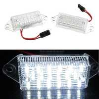2Pcs 3W 18-SMD LED License Plate Lights Lamp Error Free 6000K White for Mitsubishi Lancer 03-17