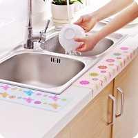 Kitchen Sink Self-adhesive Waterproof Paste Bathroom Warm Suede Electrostatic Printing Stickers