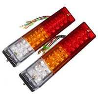 Pair 12V Truck Trailer Caravan LED Brake Rear Tail Reverse Light Turn Indiactor