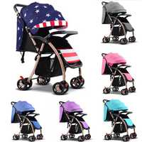 Foldable Baby Kids Stroller Newborn Infant Awning Pushchair Buggy Travel Pram Lightweight Compact Strollers