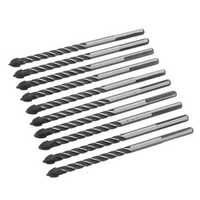 10pcs 1/4 Inch Tungsten Carbide Drill Bit Set Ceramic Wall Tile Glass Cross Spear Point Drill Bit