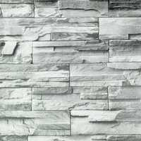 10m Rustic Grey Brick Self Adhesive Wallpaper Home Living Room Decoration Wall Sticker Roll