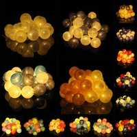 Battery Powered 30LEDs Pastel Cotton Ball String Lights for Holiday Decoration