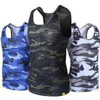 JOZSI Mens Outdooors Camouflage Breathable Quick Drying Summer Tank Tops