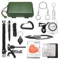 SOS Emergency Equipment Tools Kit Survival Tactical Hunting Tool First Aid Box