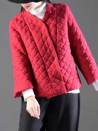 Women Pure Color Long Sleeve Chinese Style Thicken Coats