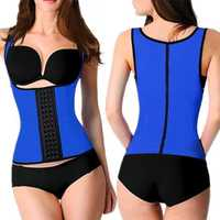 Latex Steel Boned Body Control Vest Corset Waist Trainer Underbust Shaper Tummy Tuck