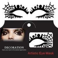 Tomb Cross Spider Web Halloween Eye Tattoo Sticker Squishy Lace Fretwork Papercut Masquerade