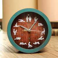 Funny Alarm Clock Creative Sex Desk Watches Retro Bell Silent 12 Kinds Gestures
