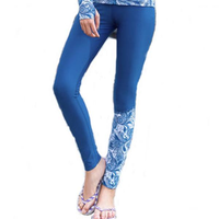 SABOLAY New Style Blue Quick Dry Sunscreen Female Yoga Fitness Snorkeling Diving Surfing Tight Pants