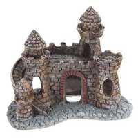 Yani Aquarium Decoration Wizard's Castle Fish Tank Shelter House Hand Painted Realistic Castle