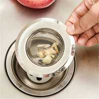 7/9/11cm Stainless Steel Sink Filter Hair Colanders Strainers Filter Round Kitchen Drain Bathroom Sink Accessories