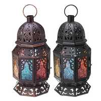 Retro Iron Candle Holder Candlestick Tealight Wedding Tabletop Hanging Decor