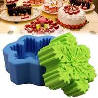 Christmas Snowflake Silicone Soap DIY Mold Handmade Candle Soap Mold 3D Mould Baking Mold