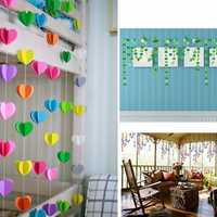 1.5M Hanging Paper Garland Chain Wedding Birthday Party Ceiling Banner Decoration