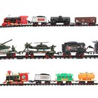 Electric Rechargeable Steam Vapor Train Model Truck Car Track Toys Remote Suit