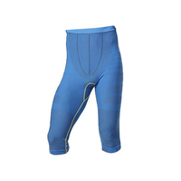 Men Polyester Compression Sports Pants Tight Capri Trousers Breathable Quick Dry Shapewear