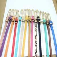 Women Ladies Small Faux Leather Waist Belt Thin Narrow Waistband Strap