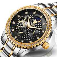 TEVISE T807C Luminous Skeleton Automatic Mechanical Watches