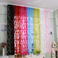 1mx2m Butterfly String Curtain Tassel Drape For Wall Vestibule Door Window Home Decor