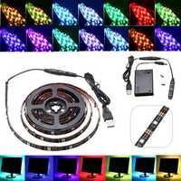 30/50/100/150/200CM USB Battery RGB 5050 Waterproof LED Strip Light TV Background Lighting