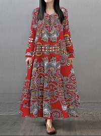 V-Neck Irregular Layered Dress