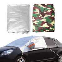 224X152cm Silver/Camouflage Car Sunshade Windscreen Cover Shield Snow Rain Dust UV Protection