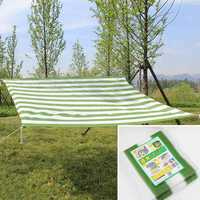 200x200cm Green White Garden Plant Sunshade Net Balcony Yard Patio Insulation Shading Netting