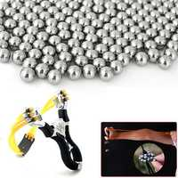 KALOAD 100pcs 6mm Steel Balls Professional Steel Bearing Balls Slingshot Shooting Ammo Bullet